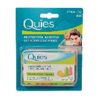Hygiene Nez Et Oreille QUIES Protection auditive - Mousse confort - Fluo - 8 paires