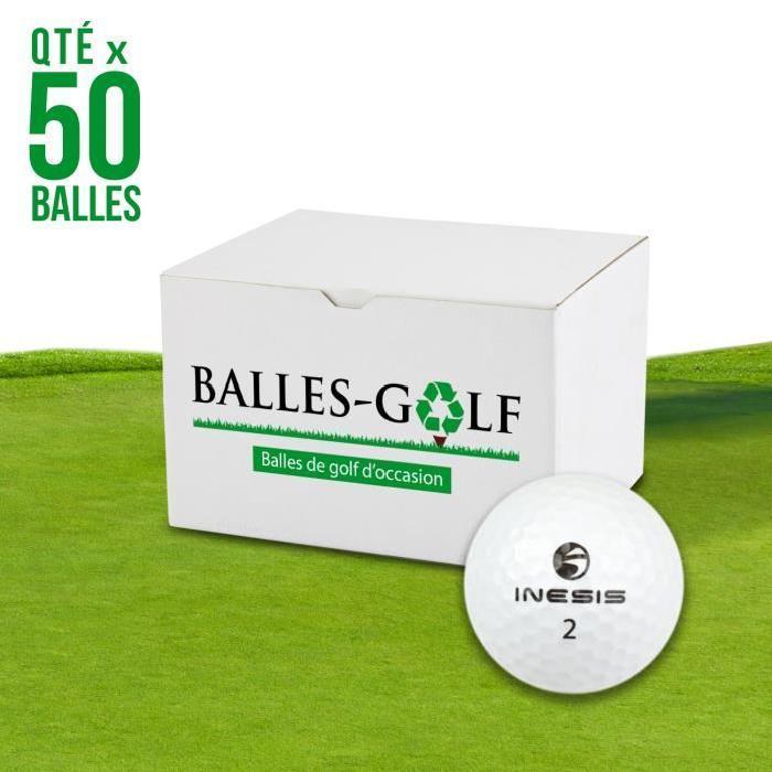 INESIS-Lot-de-50-Balles-de-Golf-Inesis-Mix-Reconditionnees-Generique