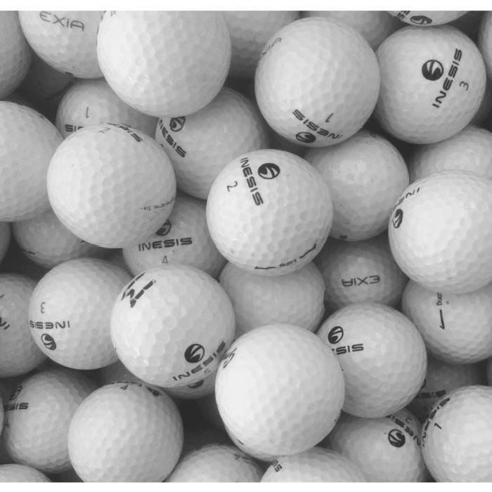 INESIS-Lot-de-50-Balles-de-Golf-Inesis-Mix-Reconditionnees-Generique miniature 2