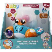 Imagination AUBY ? Mon Crazy Crabe ? Jouet avec Effets Sonores & Lumineux ? Jouet 12 mois et+