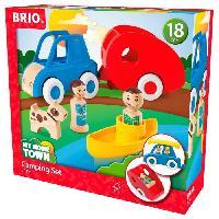 Imagination BRIO - My Home Town - Voiture Et Caravane - Jouet en bois - Brio World
