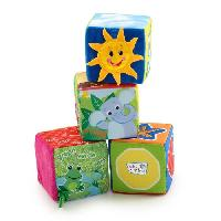Imagination Cubes en tissu Explore et Discover Soft Blocks - Multicolore