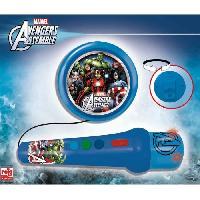 Imitation Instrument Musique AVENGERS Micro A Main Avengers Avec Amplificateur Et Rhytmes - Farelek