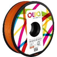 Impression - Scanner OWA Bobine de Filaments pour imprimante 3D - PLA Hi - Orange