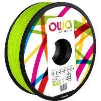 Impression - Scanner OWA Bobine de Filaments pour imprimante 3D - PLA Hi - Vert fluo