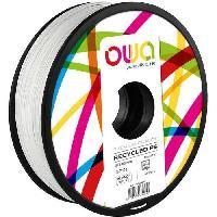 Impression - Scanner OWA Bobine de Filaments pour imprimante 3D - PS- Blanc