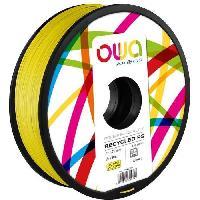 Impression - Scanner OWA Bobine de Filaments pour imprimante 3D - PS - Jaune