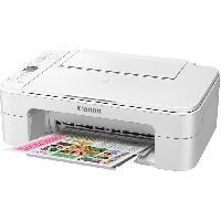 Imprimante CANON Imprimante Multifonction 3 en 1 PIXMA TS3151 blanche - Jet d'encre - A4 - WiFi - Écran 3.8cm - AutoPower OFF