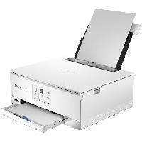 Imprimante CANON Imprimante multifonction 3 en 1 PIXMA TS 8251 blanche - jet d'encre - A4 - WiFi - Ecran tactile 10.8cm - RV auto - Carte SD