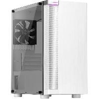 Informatique Boitier PC Sans Alimentation - ABKONCORE - C450M - Mini tour - Format Micro-ATX - Blanc (ABKO-C-450M-G-WH)