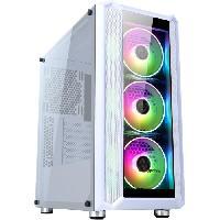 Informatique Boitier PC Sans Alimentation - ABKONCORE - H301G - Moyen tour - Format ATX - Blanc (ABKO-H-301-G-WH)