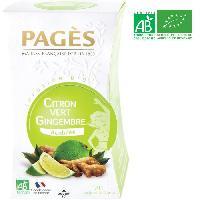 Infusion Infusion Citron Vert - Gingembre - Bio