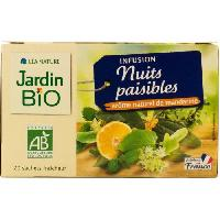 Infusion JARDIN BIO Infusion nuit paisible bio - 30g