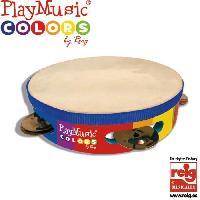 Instrument - Percussion CLAUDIO REIG Tambourin en bois. avec boîte