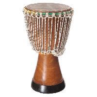 Instrument - Percussion DELSON W Moyen Djembé du Sénégal en bois Ø 30cm - Hauteur : 55cm