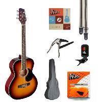 Instrument A Cordes STAGG SA20A SNB Guitare Folk - Dégradé - Brun