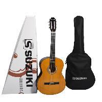 Instrument A Cordes SUZUKI Guitare classique 1/2 pour enfant finition naturelle avec housse de protection
