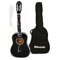 Instrument A Cordes SUZUKI Guitare classique 1/2 pour enfant finition noire avec housse de protection