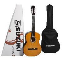 Instrument A Cordes SUZUKI Guitare classique 3/4 finition naturelle avec housse de protection