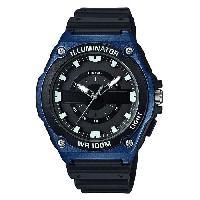 Instrument De Mesure CASIO Montre Collection noire et bleue MWC-100H-2AVEF Bracelet résine