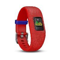 Instrument De Mesure GARMIN Bracelet d'activité Spiderman Vivofit Jr 2 - Enfant garçon - Rouge