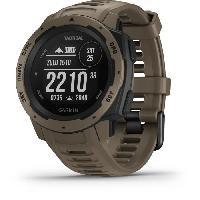 Instrument De Mesure Garmin Instinct Tactical Edition - Montre GPS robuste avec fonctions tactiques - Coyote
