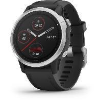 Instrument De Mesure Garmin fenix 6S - Montre GPS multisports haut de gamme - Silver avec bracelet noir