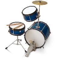 Instruments De Musique DELSON Batterie Enfant 3 futs Bleue