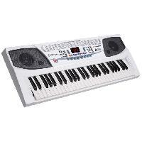 Instruments De Musique DELSON Clavier 54 touches JK-2083 blanc
