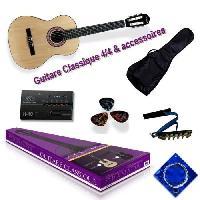 Instruments De Musique DELSON Pack Guitare Classique Gradana naturel + accessoire