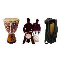 Instruments De Musique DELSON Pack grand djembé Sénégal+ housse + sangle