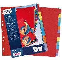 Intercalaire Paquet de 12 intercalaires neutres A4 - Carte coloree - Strongline
