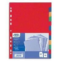 Intercalaire Paquet de 12 intercalaires neutres A4+ - Carte forte lustree