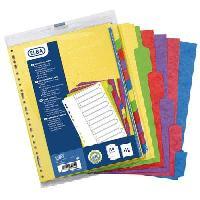 Intercalaire Paquet de 12 intercalaires neutres A4 - Carte forte lustree