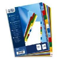 Intercalaire Paquet de 12 intercalaires numeriques A4 - Polypropylene12100
