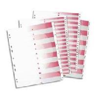 Intercalaire Paquet de 26 intercalaires alphabetiques A4 - PVC - 19100 - Blanc