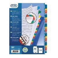 Intercalaire Paquet de 31 intercalaires numeriques A4+ - Carte coloree - Strongline