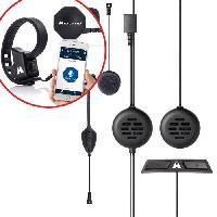 Intercom - Kit Communication Intercom de 2 personnes 200 metres avec alerte vocale pour casque Integral + Boutton sans fil Push to talk