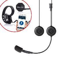 Intercom - Kit Communication Intercom de 2 personnes 200 metres avec alerte vocale pour casque JET + Boutton sans fil Push to talk