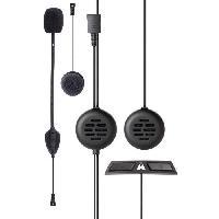 Intercom - Kit Communication Intercom pour 2 personnes jusqu'a 200 metres avec alerte vocale. completement etanche pour casque JET