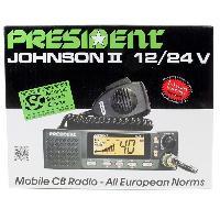 Intercom - Kit Communication Poste Radio CB Johnson II 12-24v ASC 40 Canaux AM-FM Multi normes