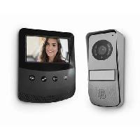 Interphone - Visiophone AVIDSEN Visiophone 2 fils - Ecran 4.3 pouces - Noir-Gris