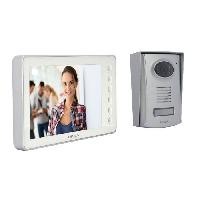 Interphone - Visiophone CHACON Videophone 2 fils 7'' - Blanc