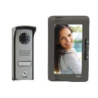 """Interphone - Visiophone EXTEL Visiophone Up 2 fils écran couleur verticale 7"""" a vision nocturne"""