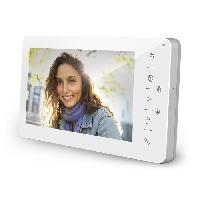 Interphone - Visiophone Moniteur 4 fils ecran LCD 7 pouces pour visiophone collectif