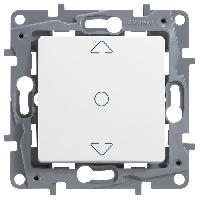 Interrupteur Interrupteur individuel pour volets roulants Niloe blanc avec enjoliveur finition eclat