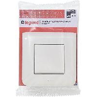 Interrupteur Interrupteur simple Mosaic avec plaque 10 A blanc