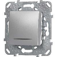 Interrupteur SCHNEIDER ELECTRIC Interrupteur va-et-vient Unicatop a voyant aluminium