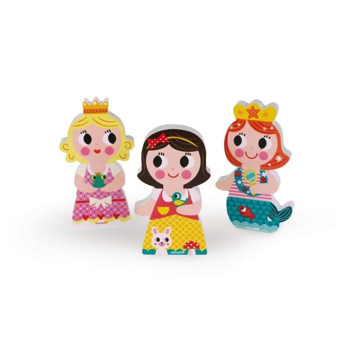 JANOD-Puzzle-magnetique-Funny-039-039-Princesses-039-039