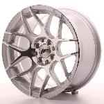 Jante 16 JR18 16x8 ET25 4x100-108 Argent poli Japan Racing